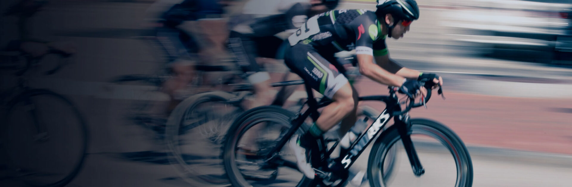 bike race motion blur